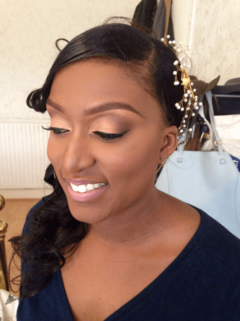 How To Apply Bridal Makeup For Black Skin : Olyvias Wedding