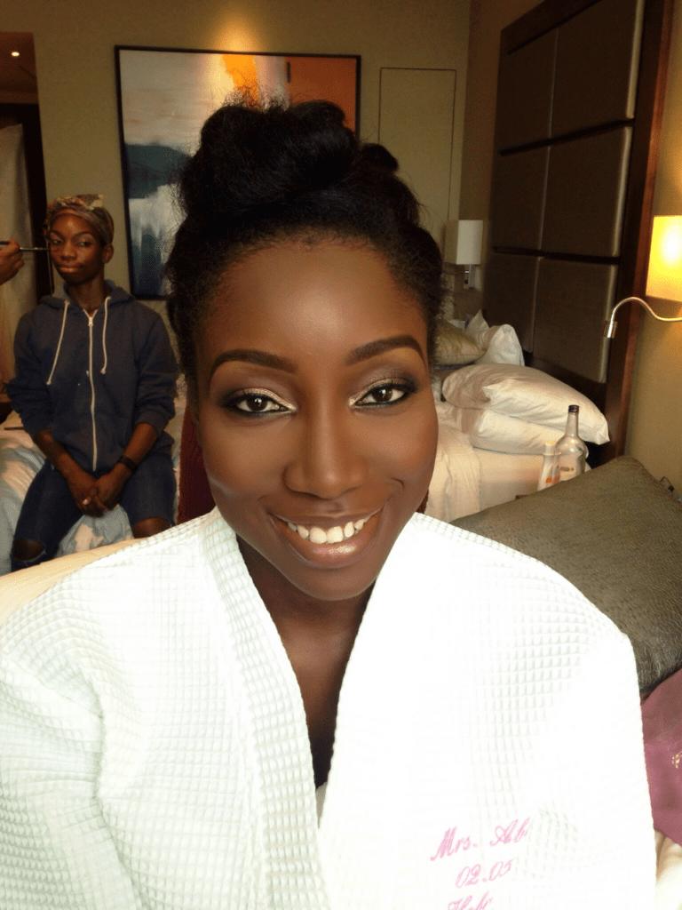 jasmine's wedding, black bride london, london makeup artist for black skin, black makeup artist london, black bridal beauty blog, makeup artist for dark skin london